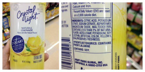 Crystal Light  - misleading products on 100 Days of Real Food