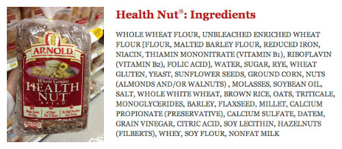 Health Nut Bread - misleading products on 100 Days of Real Food