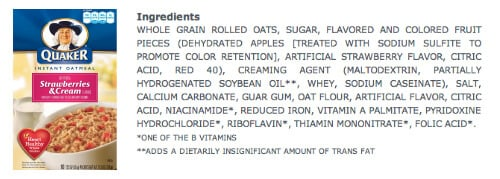 Oatmeal  - misleading products on 100 Days of Real Food