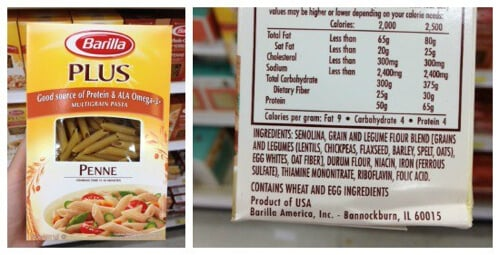 Past Plus - misleading products on 100 Days of Real Food