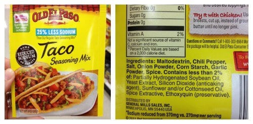 Taco Seasoning - misleading products on 100 Days of Real Food