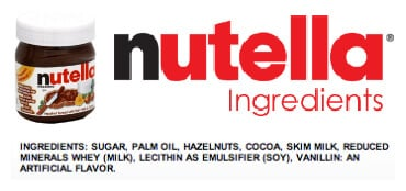 nutella  - misleading products on 100 Days of Real Food