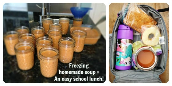Tomato Soup for school lunches - in Thermos - by 100 Days of Real Food