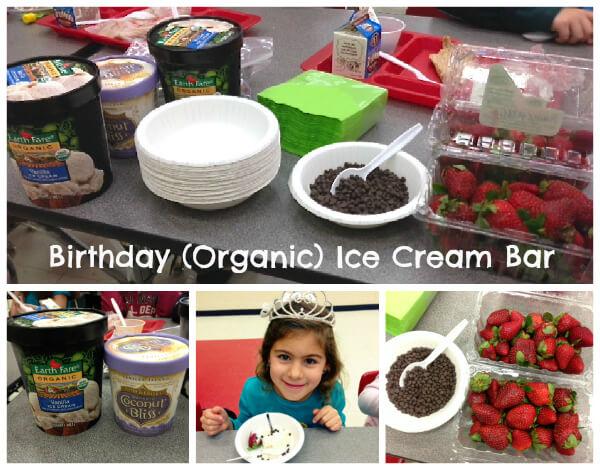birthday (organic) ice cream bar by 100 Days of Real Food