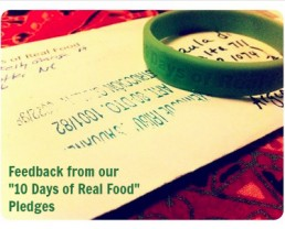Feedback from our Real Food Pledges