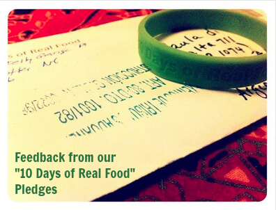 Feedback from our 100 Days of Real Food pledges