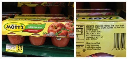 Motts Strawberry Flavored Applesauce - Misleading Food Products II on 100 Days of Real Food
