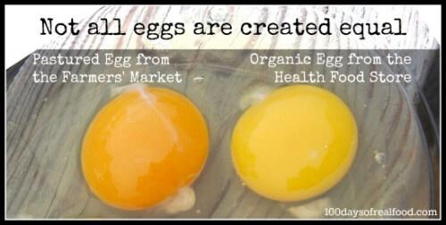 Farmer's Market Egg vs. Organic Egg - 100 Days of Real Food