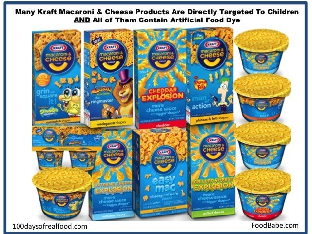 Kraft Mac and Cheese Products Targeted at Children - 100 Days of Real Food