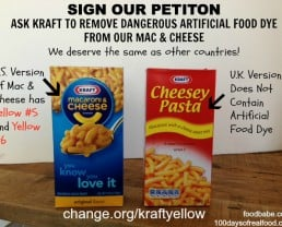 We Deserve Better: Tell Kraft To Stop Using Dangerous Artificial Colors in Our Mac & Cheese