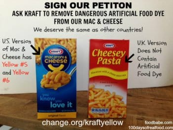 Kraft Yellow Petition 350x263 - We Deserve Better: Tell Kraft To Stop Using Dangerous Artificial Colors in Our Mac & Cheese