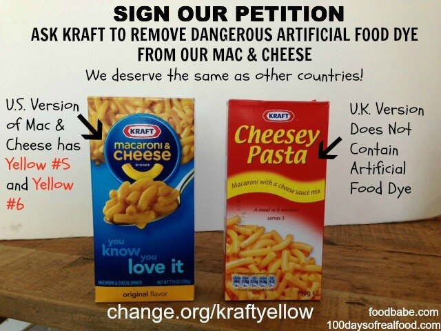 Kraft Yellow Food Dye Petition - 100 Days of Real Food