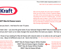 Kraft Acknowledged Petition But Didn't Address Concerns