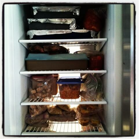 Once a Month Mom freezer - 100 Days of Real Food