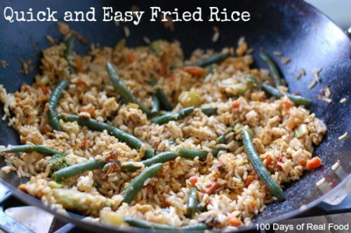 super quick and easy fried rice