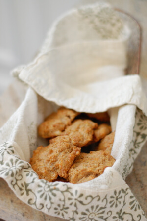 Whole-Wheat Cheddar Garlic Drop Biscuits from 100 Days of Real Food