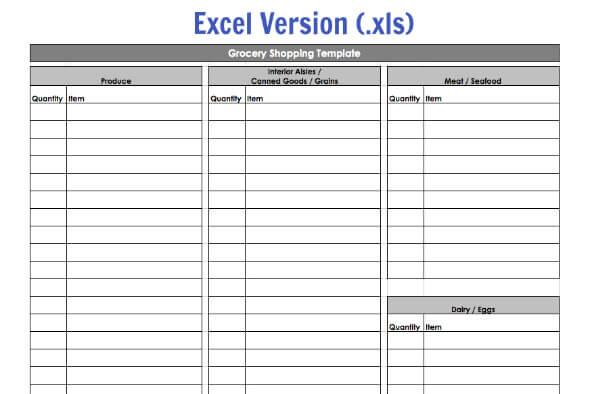 grocery list templates excel   radiofixer.tk