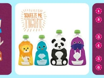 Squooshi Collage 350x263 - 3 Products to Help Introduce Your Baby and Toddler to Real Food
