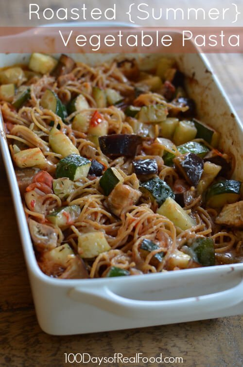 roasted vegetable pasta