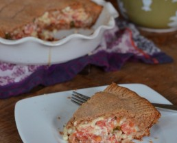 Recipe: Tomato Pie (with corn and a whole-wheat crust)