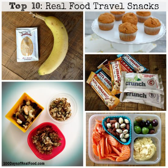 Top 10 Travel Snacks with 100 Days of Real Food