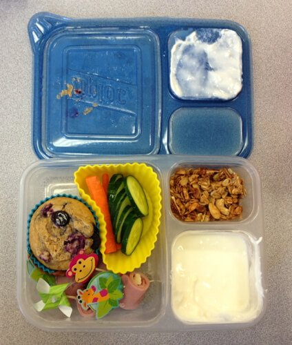 lunch in ziploc container