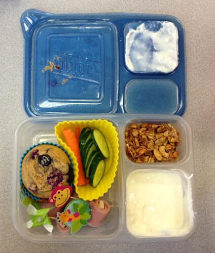lunch in ziploc container
