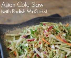 asian coleslaw with radish ministicks
