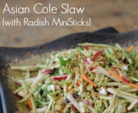 asian coleslaw with radish ministicks