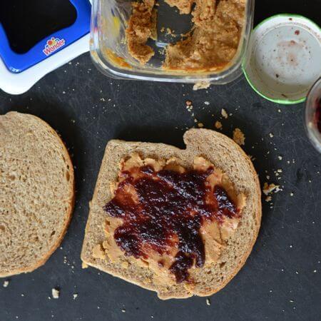 making the sandwich