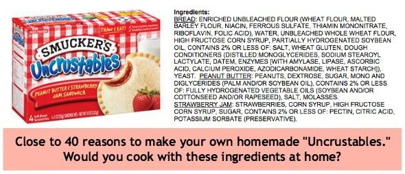 uncrustable ingredients
