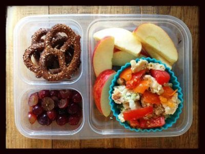 Nut-Free School Lunch Ideas 12 from 100 Days of Real Food #realfood #lunchbox