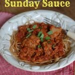 Slow Cooker Sunday Sauce