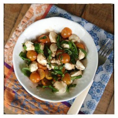 Real Food Tips (Caprese Salad) on 100 Days of Real Food #realfood