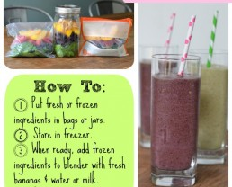 make ahead smoothie - how to