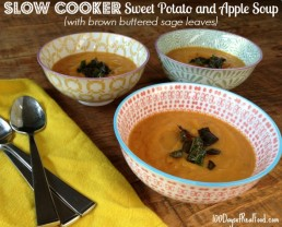 #SlowCooker Sweet Potato and Apple Soup from 100 Days of #RealFood #Fall