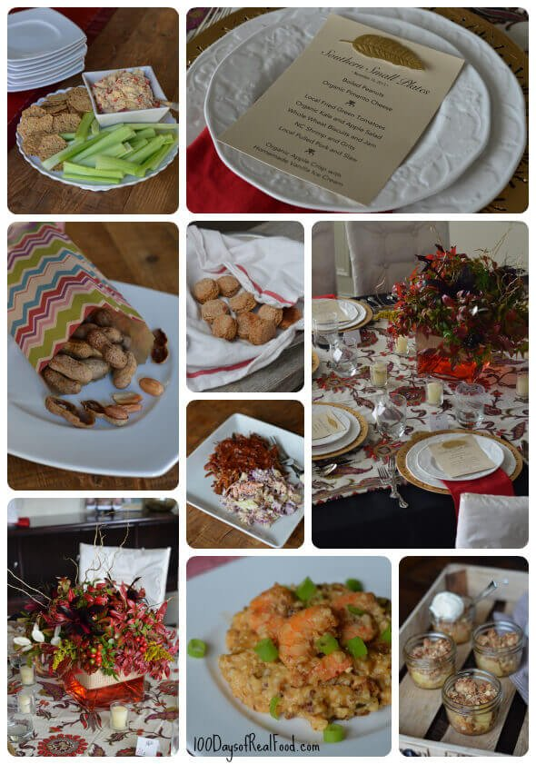 Dinner Club Food - Southern Small Plates from 100 Days of #RealFood