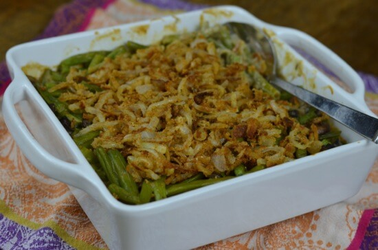 Green Bean Casserole Recipe (with French Fried Onions!) from 100 Days of #RealFood #Thanksgiving