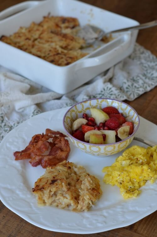 Cheesy Hash Brown Casserole from 100 Days of #RealFood