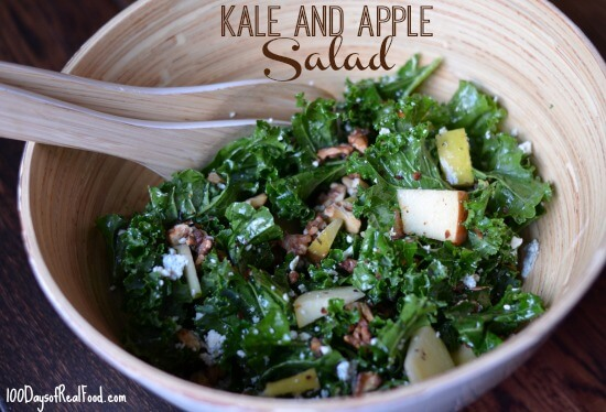Kale and Apple Salad from 100 Days of #RealFood #kale