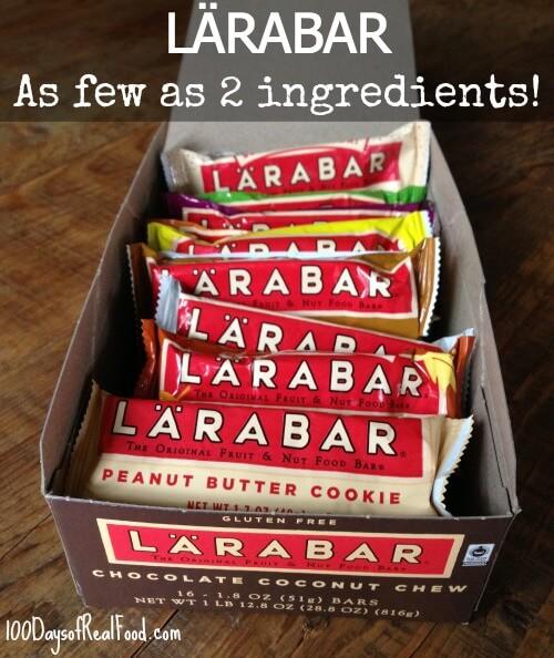 LARABARS - As few as 2 ingredients! 100 Days of Real Food