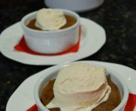 Chocolate Souffle with Ice Cream from 100 Days of #RealFood