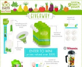 Little Green Pouch and #Vitamix Giveaway from 100 Days of #RealFood