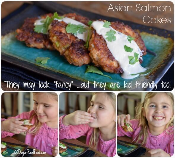 Asian Salmon Cakes from 100 Days of #RealFood #salmoncakes