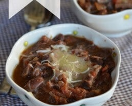 slow cooker steak chili