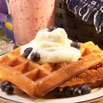 Blueberry Yogurt Waffles from Stonyfield and 100 Days of #RealFood