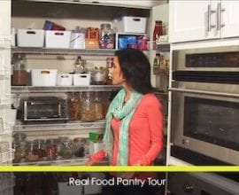 100 Days of #RealFood Pantry Tour Video