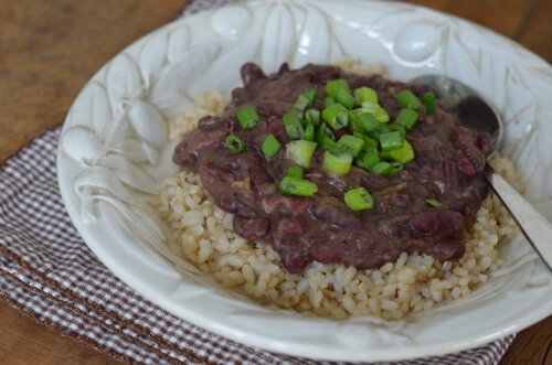 Red beans and rice recipe from 100 Days of #RealFood