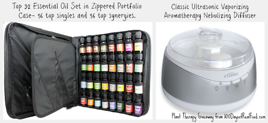 Plant Therapy Giveaway + Top Uses for Essential Oils from 100 Days of #RealFood