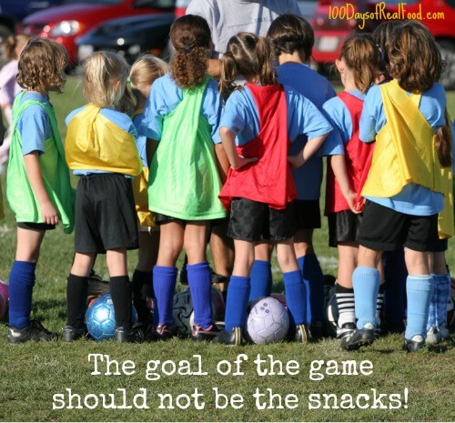 Kids don't need snacks in recreatinal sports! from 100 Days of #RealFood